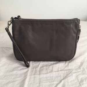 Banana republic grey expandable wristlet